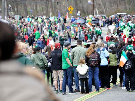 The 2016 St. Patrick's Day Parade in Ringwood.