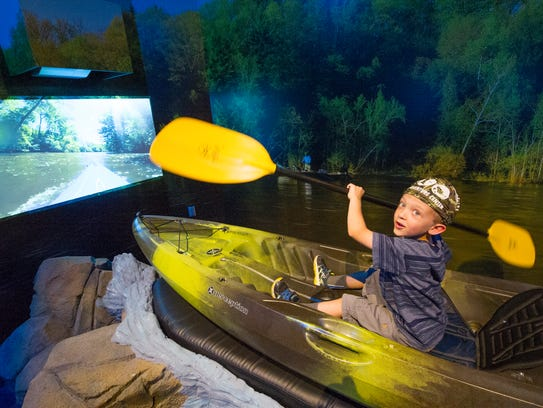 Paddle your kayak at the Outdoor Adventure Center.
