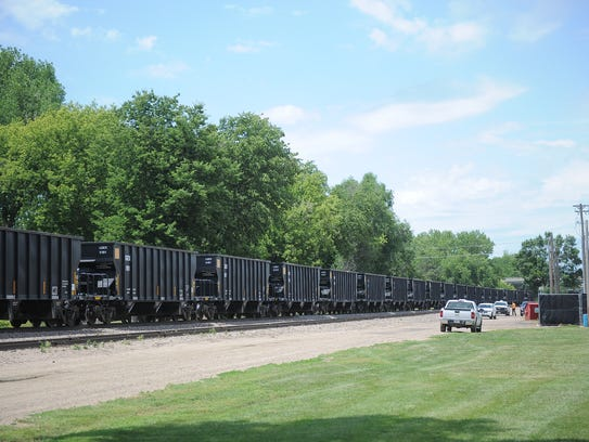 A pedestrian was clipped by a train the afternoon of