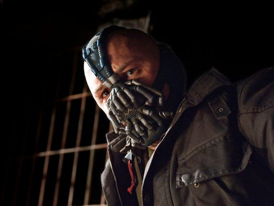 Tom Hardy as Bane in 'Dark Knight Rises.'