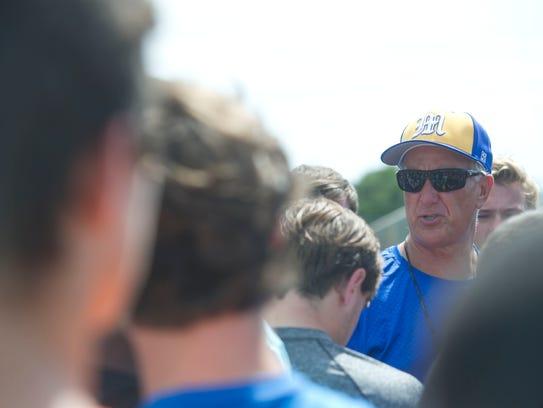 Martin County High School football coach Bill Cubit
