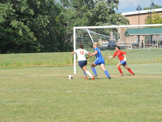 Allison DeNero scored the game-winning goal for the
