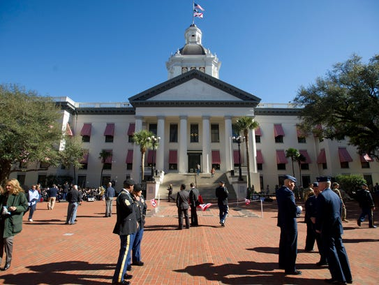 The Florida State Capitol building is pictured during