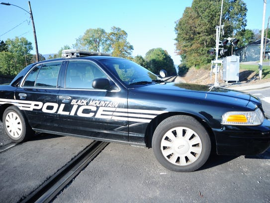 The Black Mountain Police Department blocked the railroad