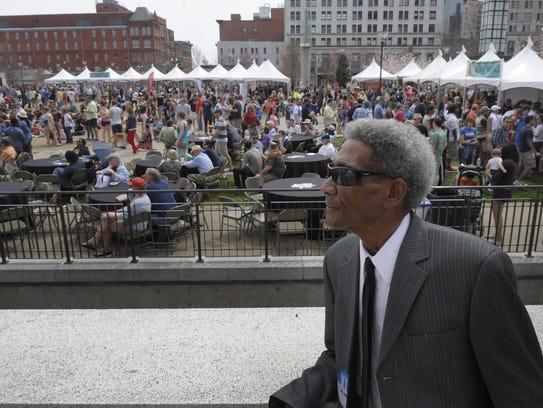 At the Metro @ 50 celebration, Robert Knight waits