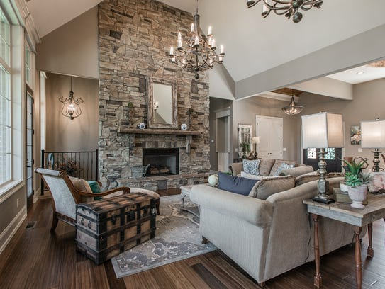 An 18-foot vaulted ceiling provides the backdrop for