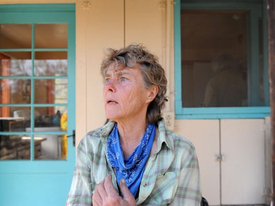 Karin Dron, who lives on Gridley Road near Ojai, had