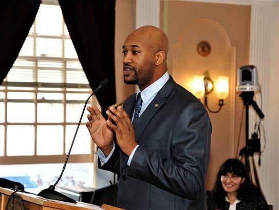 Andre K. Rainey was sworn in as Peekskill's new mayor
