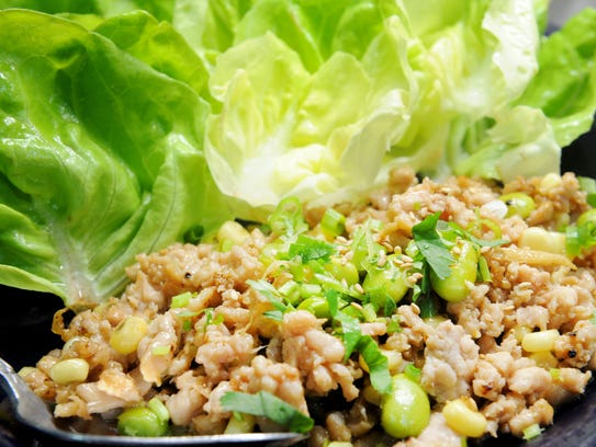 Prawn & Basil in Thousand Oaks offers lettuce wraps