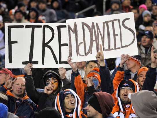 By McDaniels' second season in Denver, fans' opinions were not hard to find.