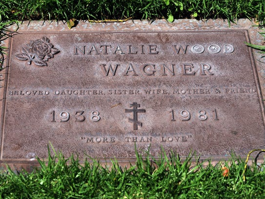 The gravesite of actress Natalie Wood in the Westwood