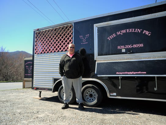 Buddy Clemons and his wife Melissa started the Sqweelin' Pig food truck six years in Barnardsville before outgrowing that space and moving to Weaverville - and now, Black Mountain.