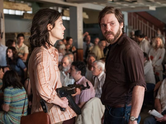 "Rosamund Pike and Daniel Brühl star in ""7 Days In Entebbe."""
