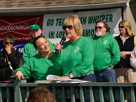 Patti Kane, widow of Danny Kane, speaking at the 2014 Irish Whisper Walk of Hope.