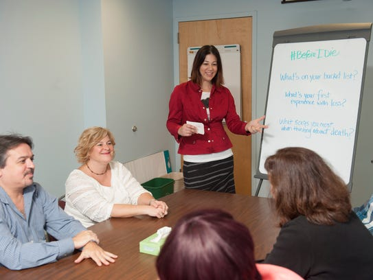 Christine Corti leads a discussion about end-of-life