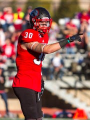Southern Utah safety Tyler Collet (30) looks to the