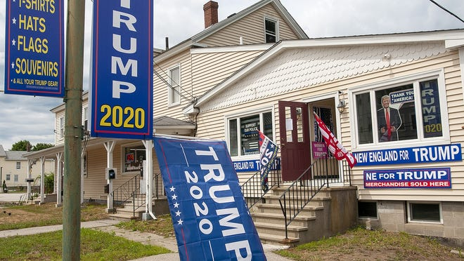 A store that sells pro-Trump merchandise recently opened on East Main Street in Webster.
