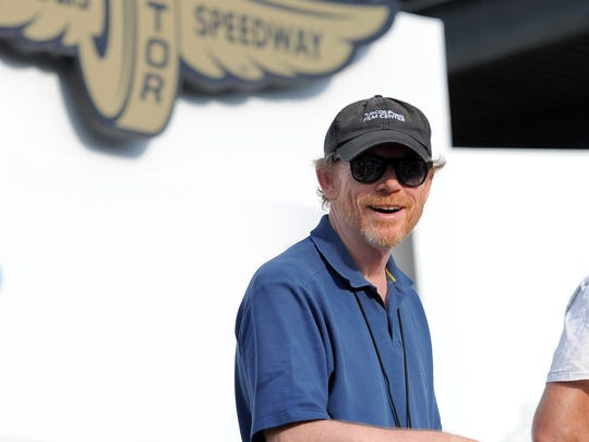 Ron Howard, seen at Indianapolis Motor Speedway in