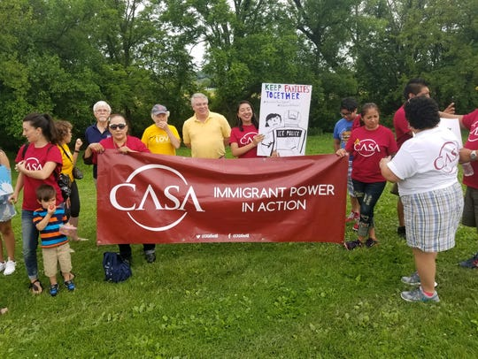 Members from York's CASA branch, an organization advocating