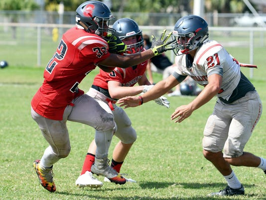 High School Football: Satellite High practice