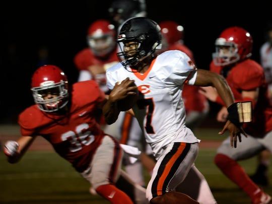Ensworth quarterback Jaylon King (7)