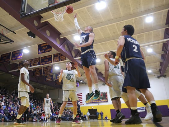 The South team's Harley Shaum makes a jump shot during