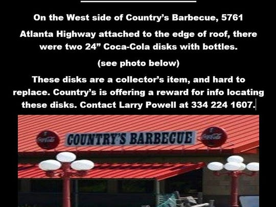 This is the flyer posted by Larry Powell on Facebook.