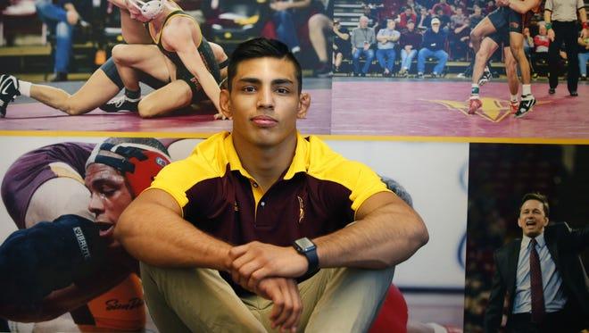 ASU wrestler Zahid Valencia, 174, qualified for NCAA Tournament.