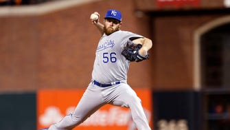 Greg Holland picked up the save for the Royals in Game 3.