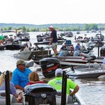 Catch-A-Dream bass classic had boats as far as you can see waiting to weigh their catch