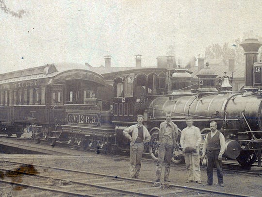 Cumberland Valley engine number 12 and passenger car