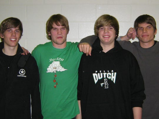 The Korver brothers from 2007, from left: Kaleb, Klayton,