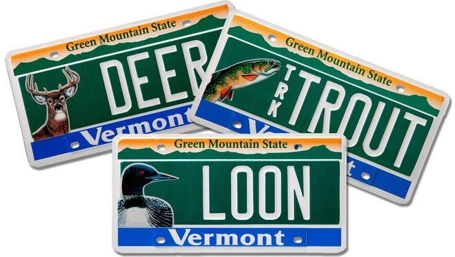 Vermont motorists will also be able to choose license plates that include images of a loon, brook trout, and white-tailed deer.