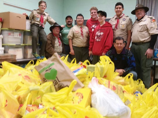 The Wharton Boy Scout Troop 67 Food Drive on Nov. 5