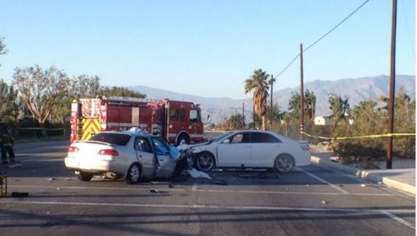 The June 5, 2014 crash killed a 65-year-old Desert Hot Springs woman and injured two others.