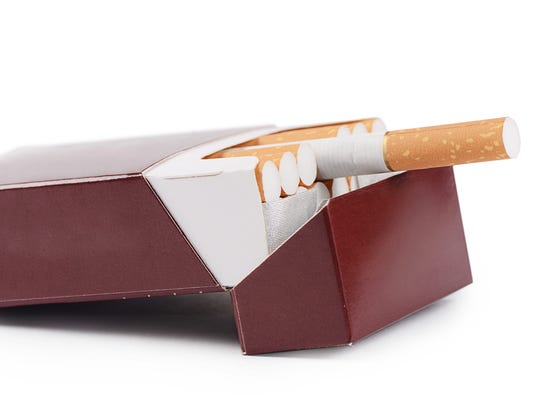 Box cigarettes isolated on a white