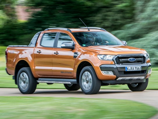 The Ford Ranger pickup truck currently being sold in