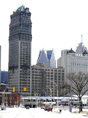 The Book Tower and Building, left and lower center, at 1265 Washington Ave.