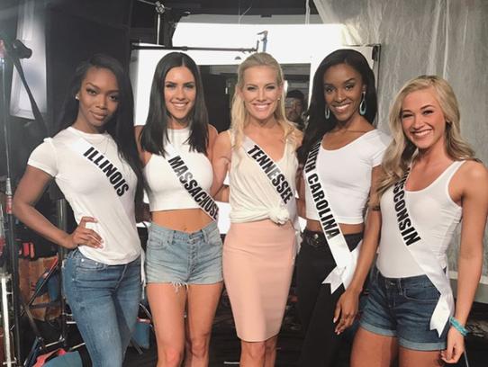 Miss Illinois-USA, Whitney Marie Wandland; Miss Massachusetts-USA,