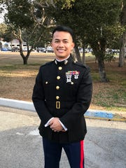 Capt. Darrell P. Chargualaf, USMC, received his MBA in Acquisition and Contract Management at the U.S. Naval Post-Graduate School in Monterey, California on Dec. 15, 2017.  He is a 2000 graduate of Southern High School and is the son of Jose Chargualaf of Santa Rita.  Capt. Chargualaf is currently stationed in Okinawa, Japan.