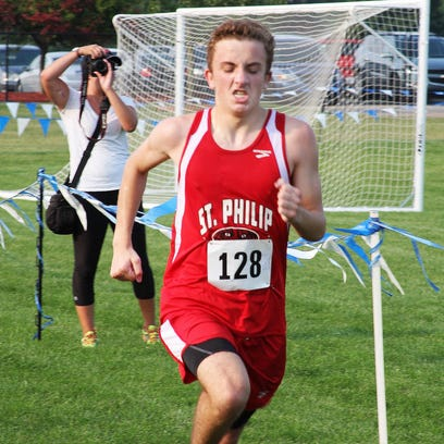 St. Philip junior Jack Greenman won the boys' individual