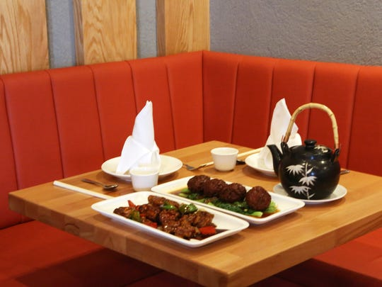 Two of the signature dishes at T.S. Ma Chinese are