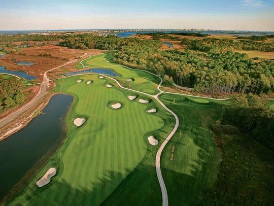 Resort Bayside Golf Club 1st Hole Aerial