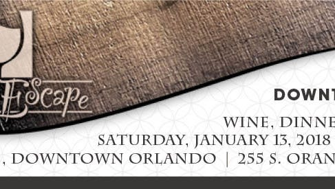 The 2018 Health First Foundation Grape Escape: Downtown Crush will be from 5-10 p.m. Jan 13, 2018 in Orlando.