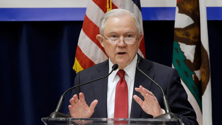 Attorney General Jeff Sessions addresses the California