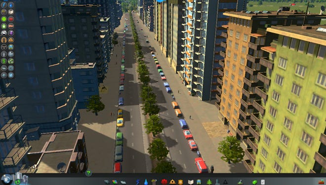 "This image shows a scene from ""Cities: Skylines"""