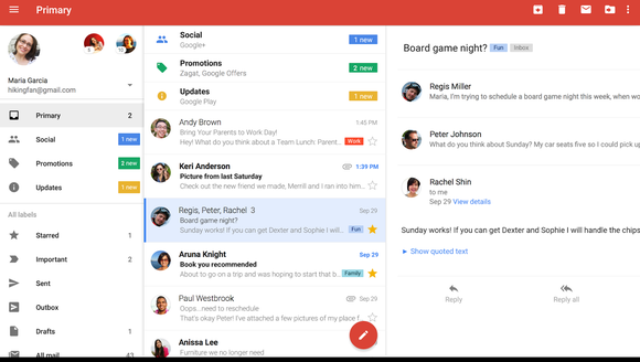 Use a cloud-based email client and set up your inbox
