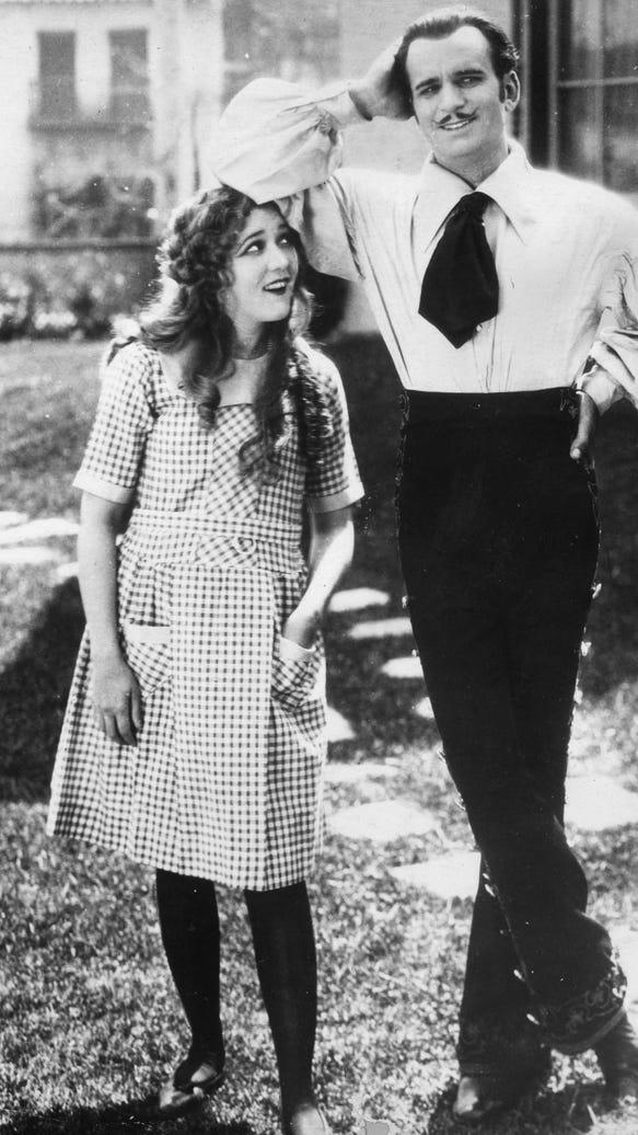 Douglas Fairbanks Sr. and Mary Pickford