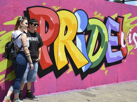 PRIDE Visalia drew a large crowd on Saturday. Thousands