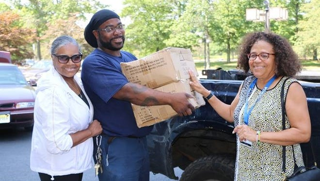 Left to right: Patricia A. Fields, Earl Green, Plainfield Public School, Cynthia Price